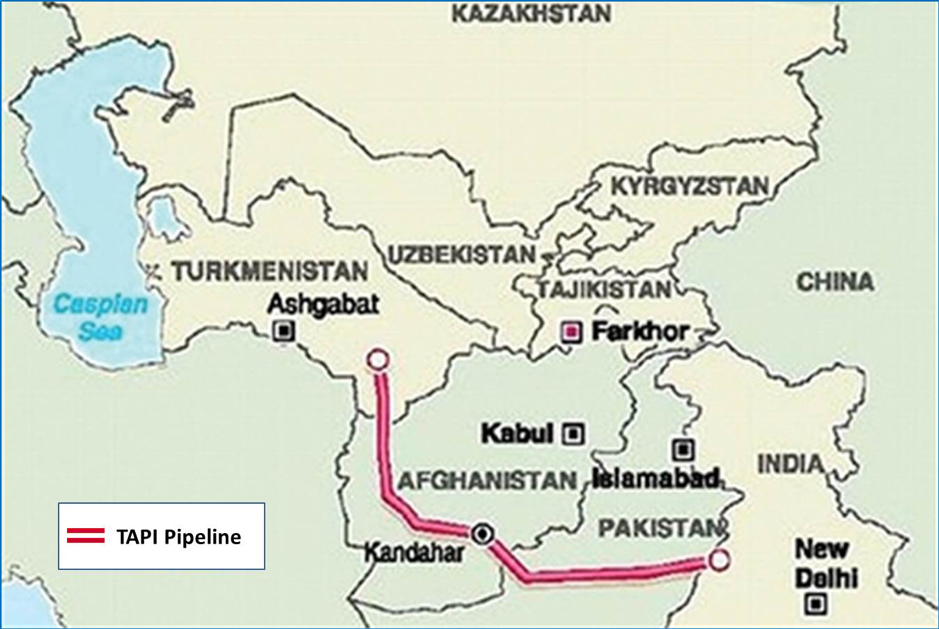 Route of TAPI Pipeline